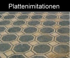 Mosaik als Marmorplattenimitation