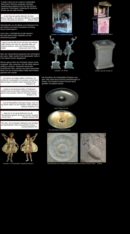 Hausaltar der Römer Altarstein